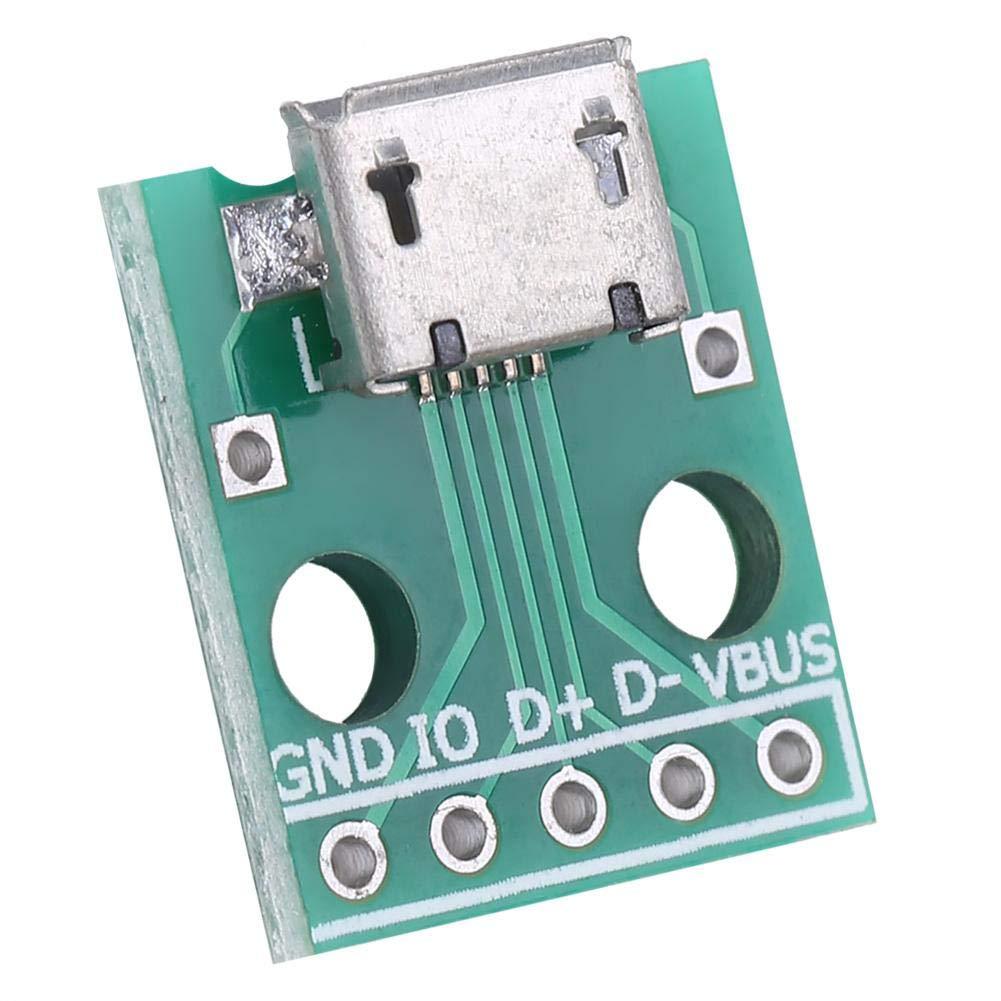 5-pin Pinboard Micro USB DIP scheda adattatore 2,54 millimetri passo femmina Micro USB a DIP 10Pcs USB a DIP Board USB DIP Adapter