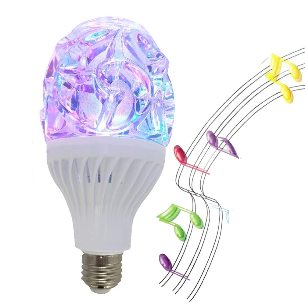 LED blue tooth light speaker bluetooth light bulb speaker RGB night light disco party ball lights luz led remote control holder smart bulb Blue with Home Remote Control Party 1PK