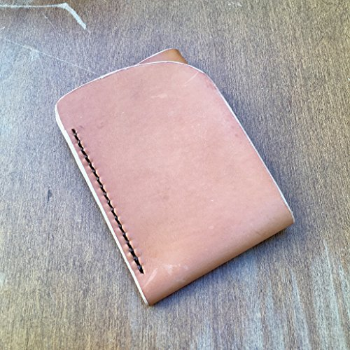 Natural Veg-Tan Leather Card Wallet, Minimalist Leather Wallet, Front Pocket Wallet, Leather Wallet, Veg Tan Wallet