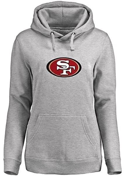 7e612479 Majestic San Francisco 49ers NFL Big Logo Pullover Hoodie Women's Gray Plus  Sizes