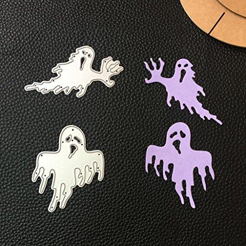 (Cywulin Happy Halloween Metal Cutting Dies Stencil Mould Scrapbooking Embossing Album for DIY Embossing Scrapbook Album Paper Amusing Card Decor Craft)