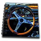 dash board notepad - 3dRose Alexis Photography - Transport Road - Steering wheel and a dashboard of a vintage luxury car - Mini Notepad 4 x 4 inch (db_271911_3)