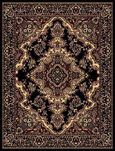 - Oriental Classic Black/Beige Area Rug