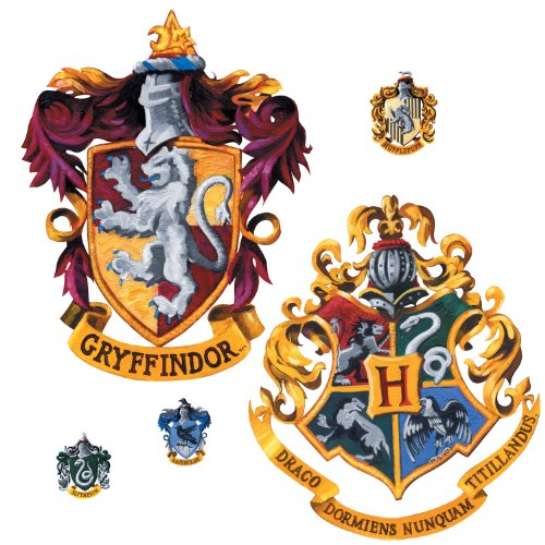 Harry Potter Giant Hogwarts School Crest Peel And Stick
