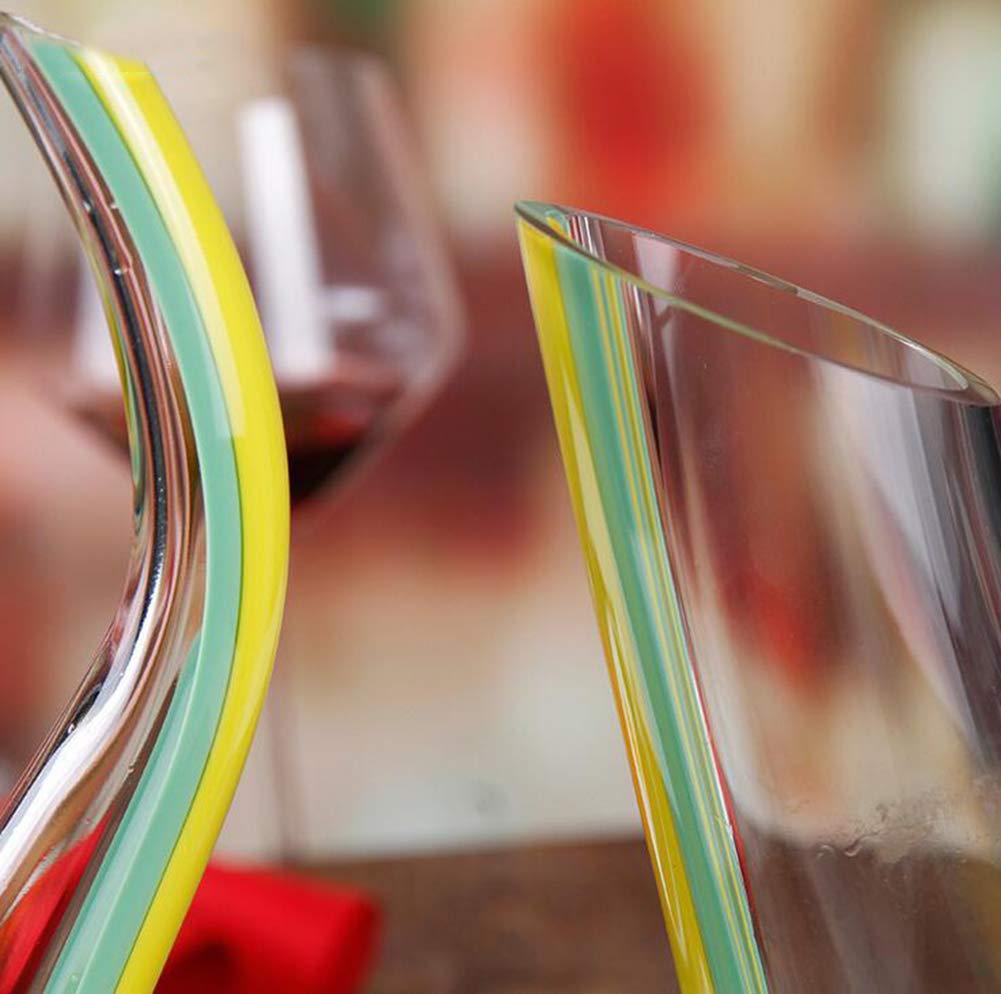 NAN Vino De La Jarra De Cristal De Cristal Aireador De Vino ...