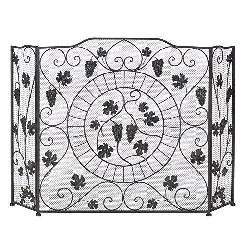 leaf design fireplace screens - 6