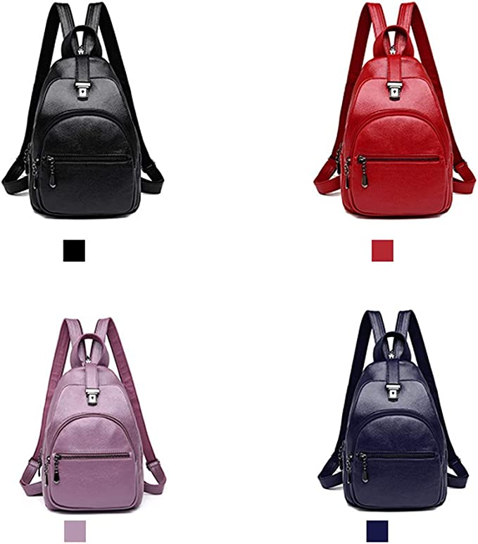 for Women /& Men Stylish and Generous Five Colors ZHICHUANG Girls Multipurpose Backpack for Daily Travel//Outdoor//Travel//School//Work//Fashion//Leisure PU Leather