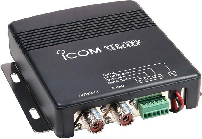 ICOM - Receptor de AIS para Barcos (2 Canales), Color Negro ...