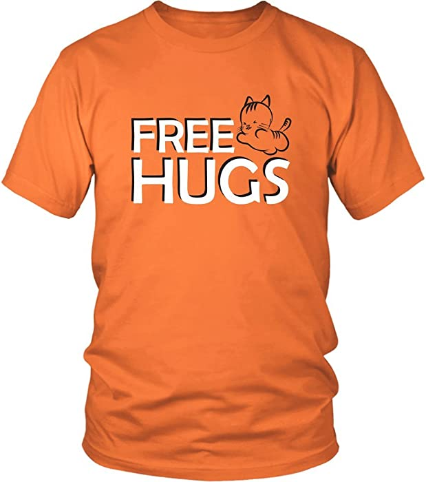 Amazon com: Free HUGS | Сute Kitten Funny Minimalism Happy Friendly