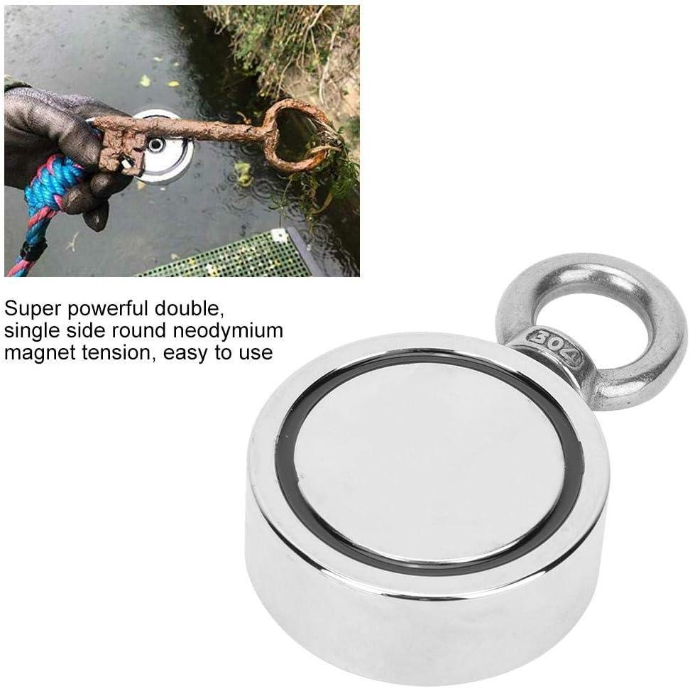 LNM48-3 Angelmagnet 48//60mm Wasserdichter doppelseitiger magnetischer Bergungsring Neodym-Magnet zum Heben von Fischen