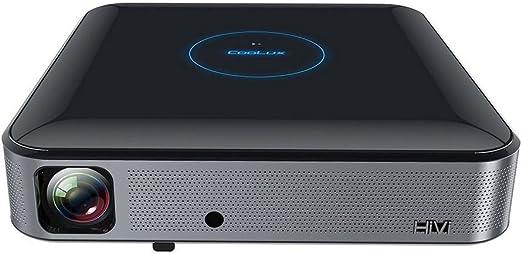 "Coolux S3 1000ANSI Lumens 3D LED DLP Projector Smart HomeTheatre 1280 x 800 Resolution 300"" Display"
