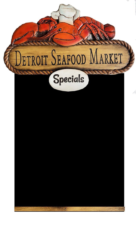 Piazza Pisano Custom Seafood Restaurant Chalkboard