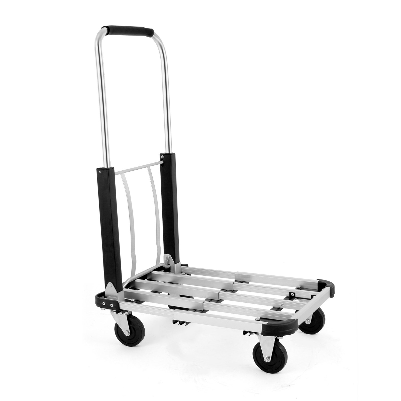 VEVOR Aluminum Foldable Hand Truck Cart Heavy Duty 330 lb Utility Dolly Collapsible Trolley (Hand Truck Cart)