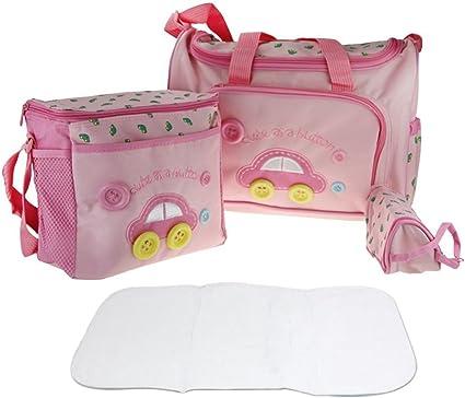 Set da 5 pezzi per fasciatoio con borse per pannolini e tappetino multiuso a mano o a tracolla