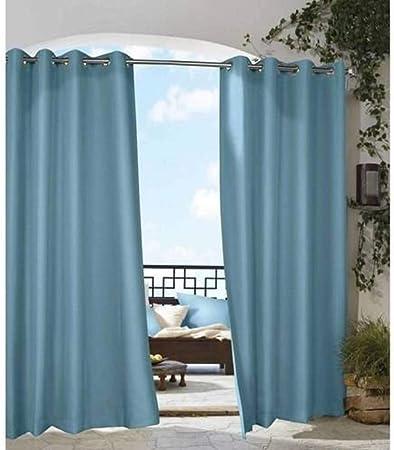 Un 1 pieza 84 al aire libre azul sólido color Gazebo cortina, azul ...