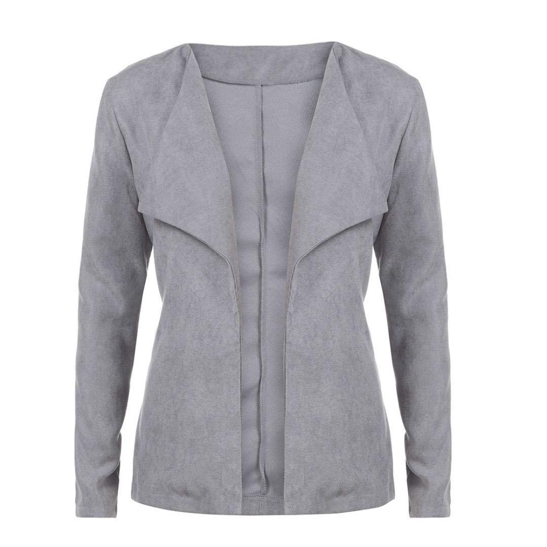 Pandaie Jacket,Women Casual Slim Suit Business Blazer Jacket Coat Top Outwear Fashion GY/M