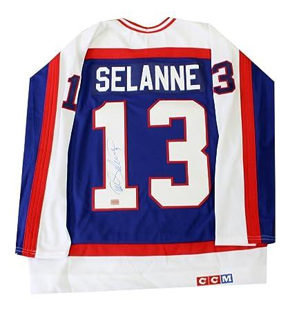 buy online 69dfa dec5e Amazon.com: Autograph Authentic AAAJH30137 Teemu Selanne ...