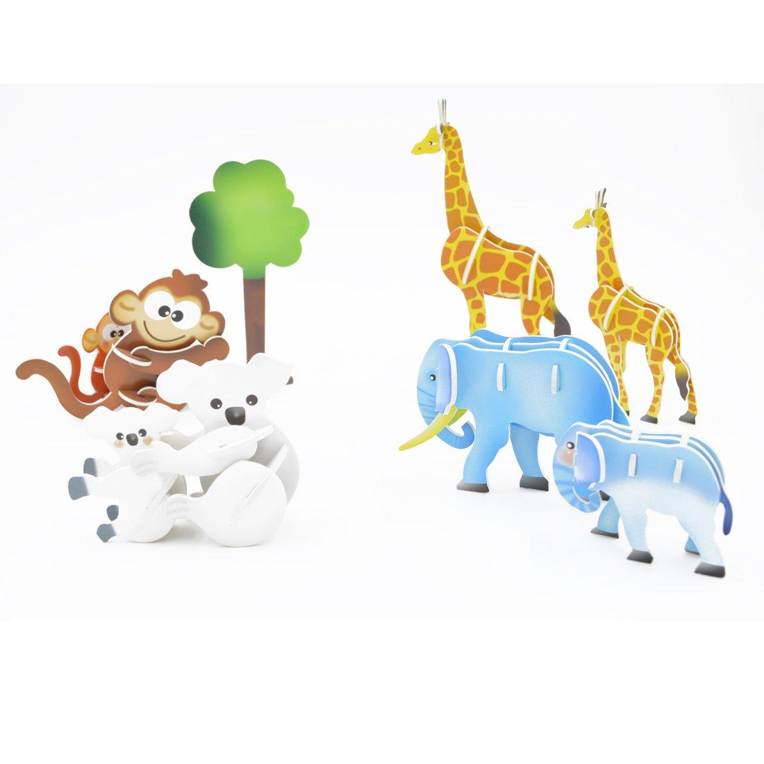 高品質で可愛いクリエイティブな魔法3D立体パズルペーパークラフトは、ヨーロッパEN71、アメリカASTM F963、6P及び3Cという品質基準に達しています,74 ピース-動物の親子の相互作用 B01EYRBXLE
