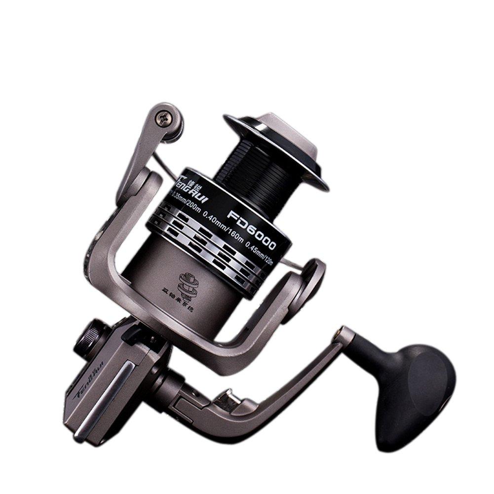 RG FD 4 + 1 BB釣りリール海水Professionalメタル強力腐食抵抗ステンレス軸受高速度スピニングリールギアfor Fishing 1000 2000 3000 4000シリーズ FD-4000 serise  B01LYBWLMW