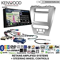 Volunteer Audio Kenwood Excelon DNX994S Double Din Radio Install Kit with GPS Navigation Apple CarPlay Android Auto Fits 2010-2012 Fusion (Silver) (Retains steering wheel controls)