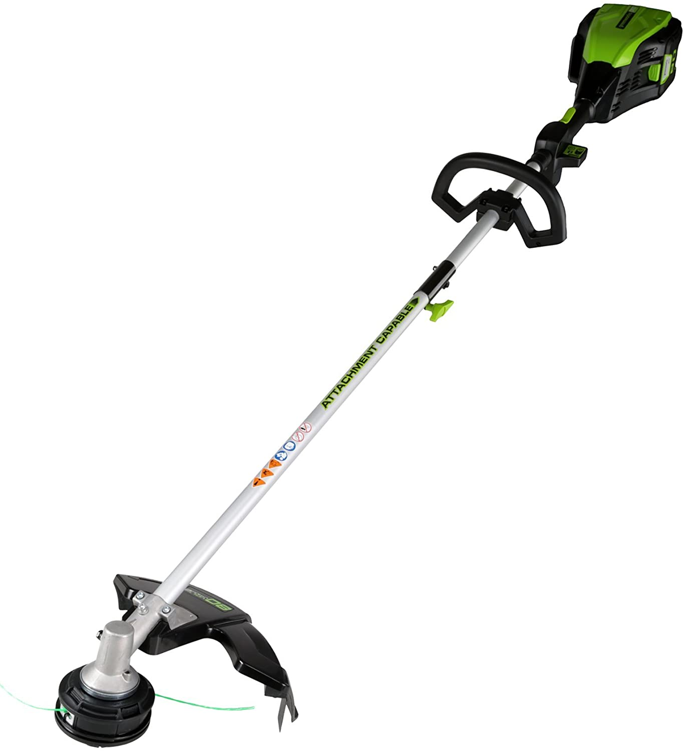 Greenworks PRO 16-Inch 80V Cordless String Trimmer Attachment Capable , Battery Not Included GST80320