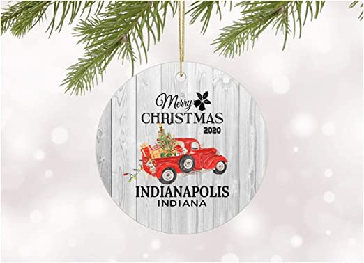 Indianapolis Christmas 2020 Amazon.com: Funny Christmas Tree Ornaments 2020 Indianapolis