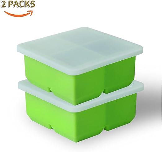 Joyoldelf grande bandeja cubitos de hielo con tapa - Calidad ...