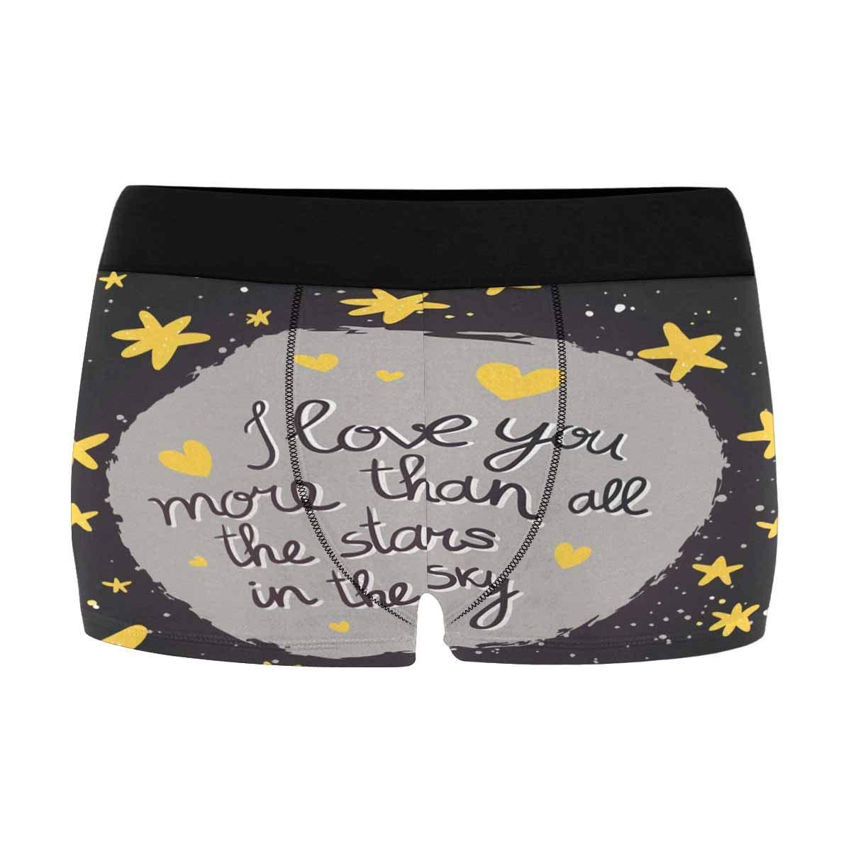 INTERESTPRINT Mens Boxer Briefs Soft Underwear