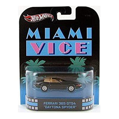 "Hot Wheels Retro Miami Vice 1:55 Die Cast Car Ferrari 365 GTS4 ""Daytona Spyder"": Toys & Games"