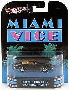 "Hot Wheels Retro Miami Vice 1:55 Die Cast Car Ferrari 365 GTS4 ""Daytona Spyder"""