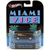 Hot Wheels Retro Miami Vice 1:55 Die Cast Car Ferrari 365 GTS4 Daytona Spyder