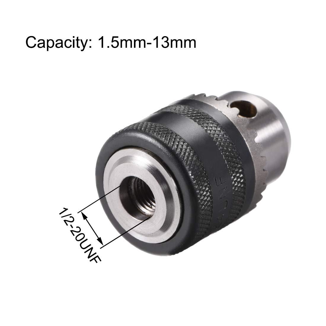 Sourcingmap a12092800ux0619-1//2-20 unf montar capacidad de perforaci/ón 1.5-13mm llave de sujeci/ón w sds m/ás v/ástago
