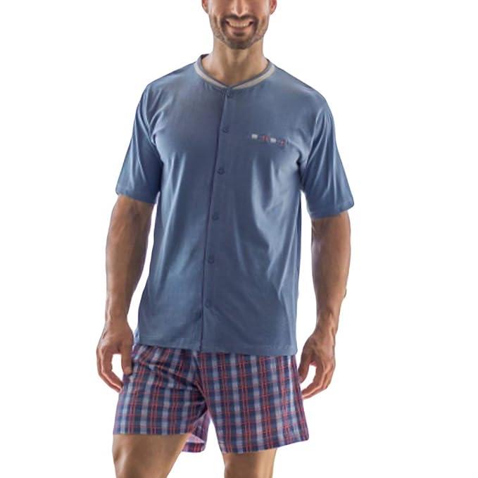 KLER - Pijama Abierto Hombre Hombre Color: Azul Talla: Medium