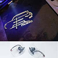 1 Pair For MITSUBISHI PAJERO (2008-2019) Car LED Door Welcome Light Warning Light Projector Ghost Shadow Light