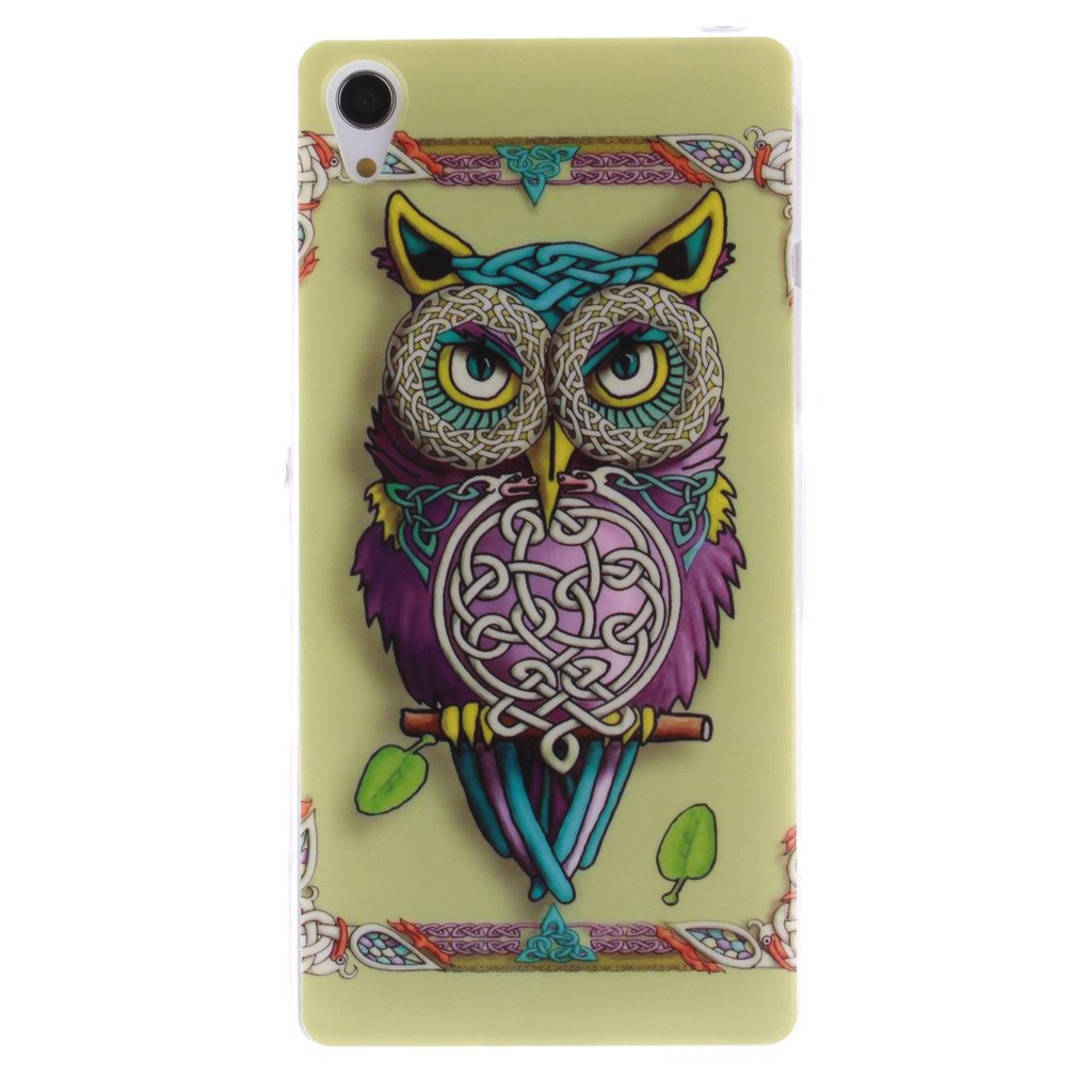 Xperia Z2 Tpu Soft Case Macoku Sony Colorful Casing Iphone 4 4s Softcase Motif Owl Silicone Cute Cover Skin Protector Toys For Cell Phone