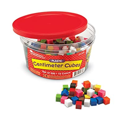 Learning Resources Centimeter Cubes, Counting/Sorting Toy, Assorted Colors, Set of 500, Ages 6+: Toys & Games
