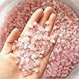 Wayber Pink Pebble, 1 Lb/450g Stones Rock Crystal Sands for Aquarium Fish Turtle Tank Landscape/Bonsai Succulent Plants Ornament/Bottom Decoration, Rose Quarzt (Fills 1&1/4 Cups)