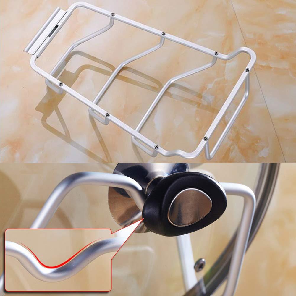 Pfanne Pfannendeckel-Halterung Aufbewahrungsregal Topf f/ür K/üchenzubeh/ör 36.5/×11cm Wie abgebildet K/üchenschrank Wand- oder T/ürmontage Deckel