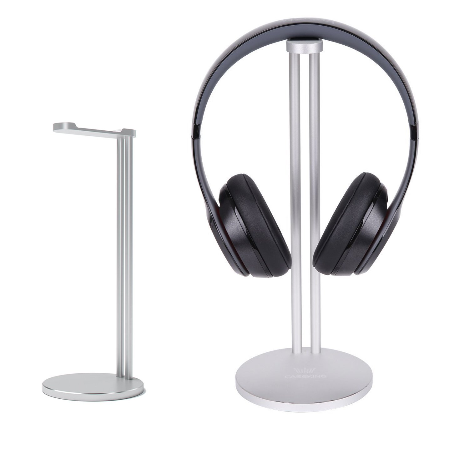 Headphone Stand, CASEKING headphone bracket for Bose, Beats, Sony, Philips, Skull Candy, Plantronics, JVC, Gaming, and DJ etc. Universal compatibility with all headphones(Argent) CK-EJZJ-AT