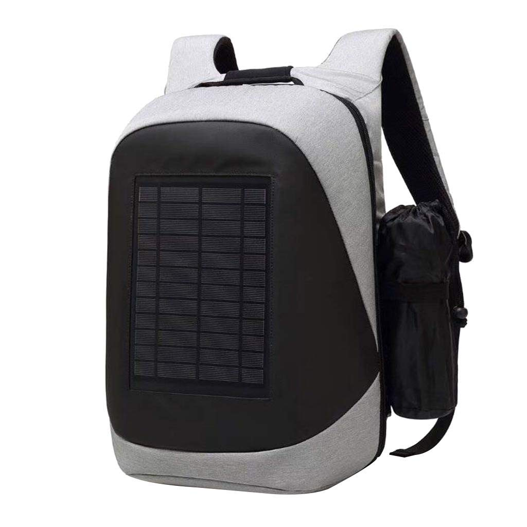 Solar Charging Backpack Charging Board Outdoor Travel Computer Bag (Silver)