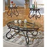 Steve Silver Lola 3 Piece Set (Coffee Table & 2 End Tables) in Dark Brown Finish