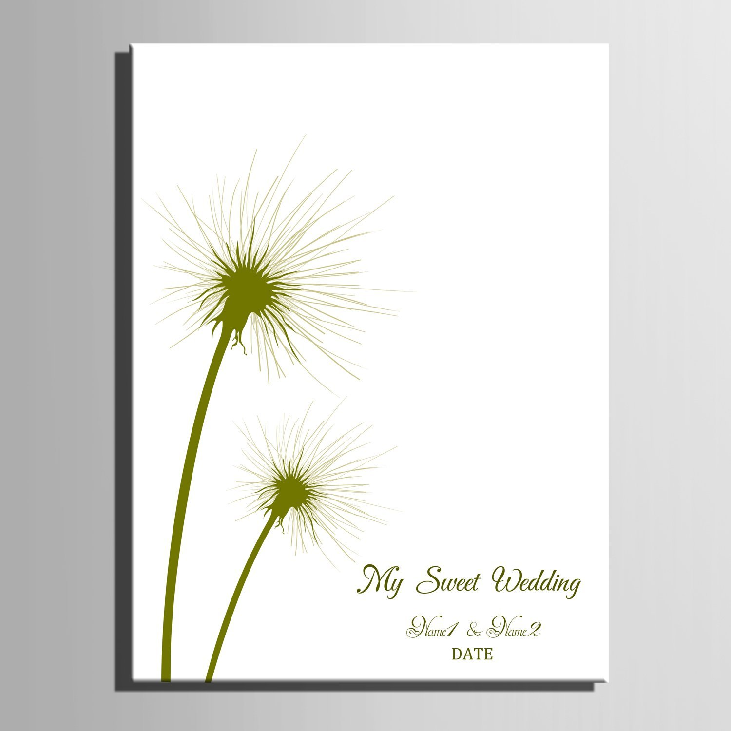 Amazoncom Fingerprint Signature Canvas Painting Green Dandelion