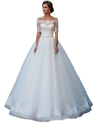 RMDress Vintage Princess Wedding Dress Plus Size Bridal Wedding Ball ...
