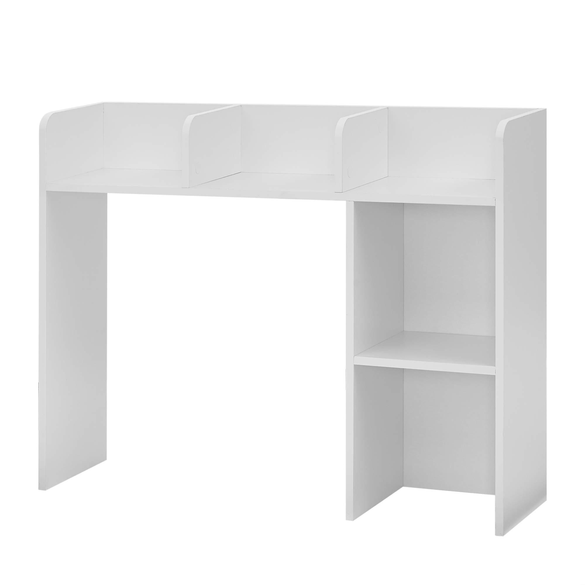 DormCo Classic Desk Bookshelf - White Color