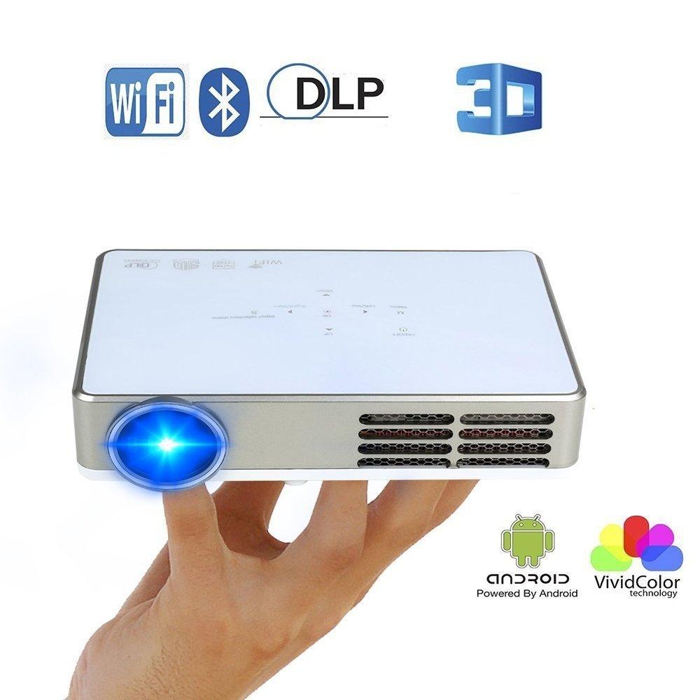 Proyector WiFi 3D,Flylinktech Mini DLP Proyectores Portatil Full ...