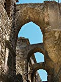 Home Comforts Peel-n-Stick Poster of Blue Sky Vaults Old Town Chios Greek Island Poster 24x16 Adhesive Sticker Poster Print