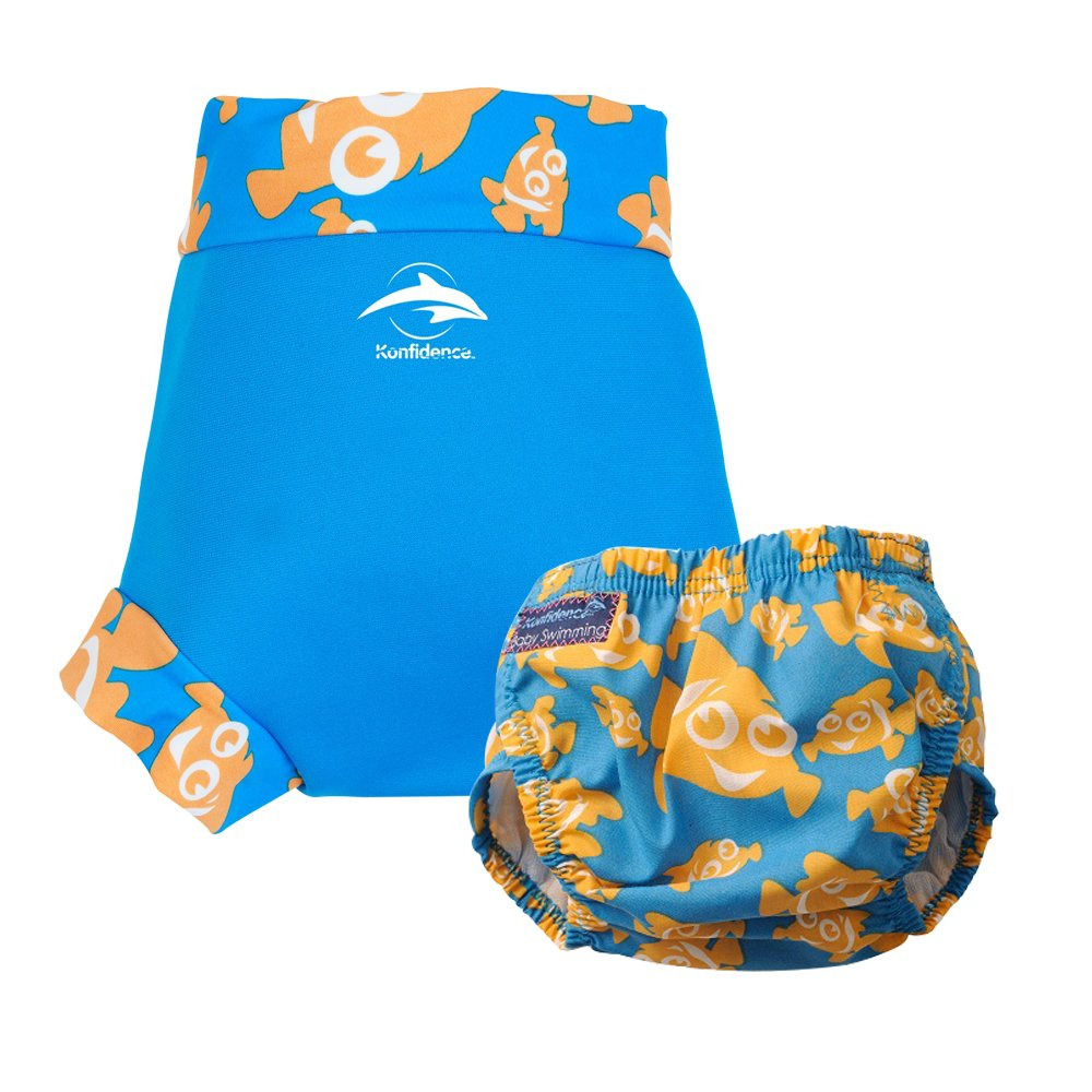 Konfidence Swim Nappy and NeoNappy Clownfish Small - 3 to 6 Months