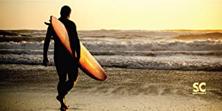"product image for Sport N Care Marine Towel (Surfer on Beach) Beach Towel 32"" x 60"""