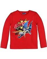 T-shirt manches longues enfant garçon bande dessinée Batman Rouge 3ans
