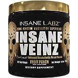 Insane Labz Insane Veinz Gold, Nitric Oxide Non Stimulant pre Workout Powder, Loaded with Hydromax, Nitrosigine, Increases Va